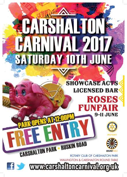 Carshalton Carnival A4 Poster 2017